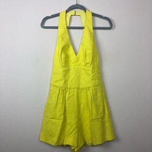 Trina Turk Neon Yellow  Romper nwot